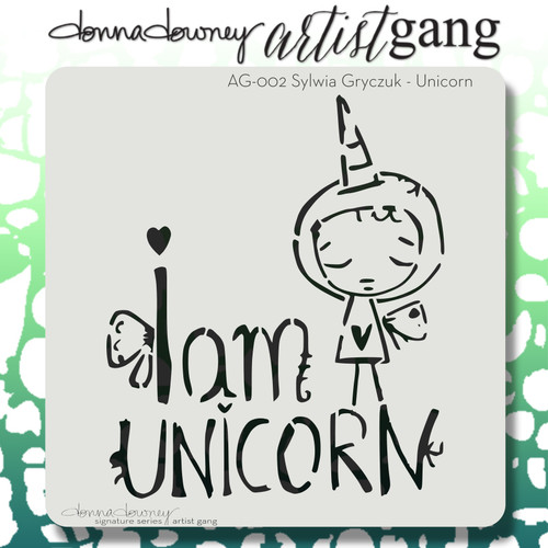 AG-002 unicorn stencil