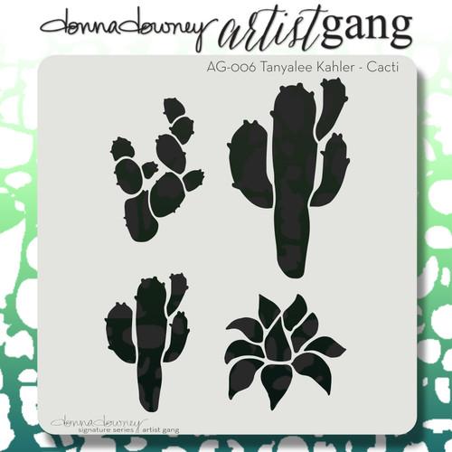 AG-006 cacti stencil