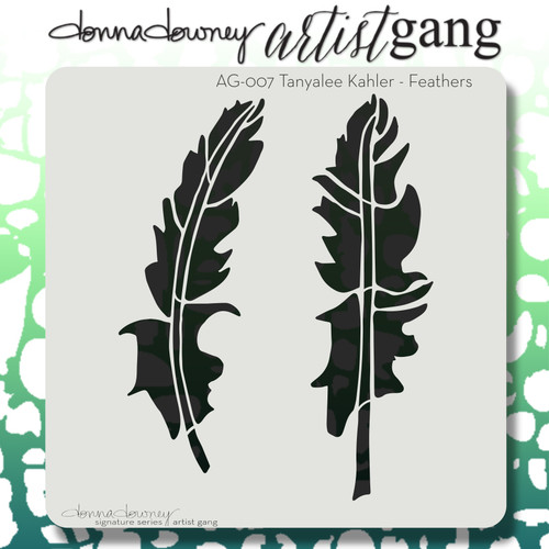 AG-007 feathers stencil