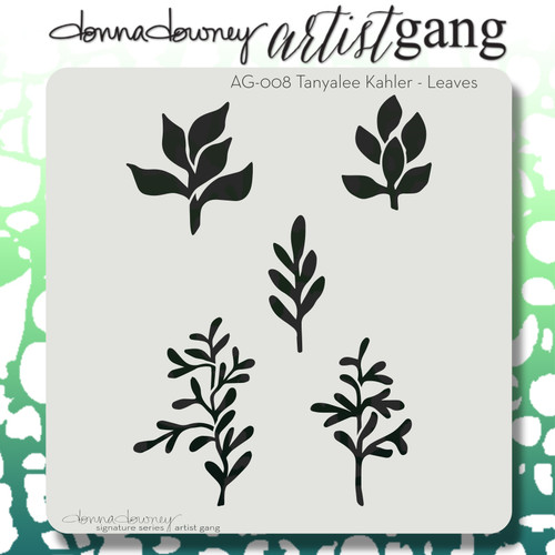 AG-008 leaves stencil