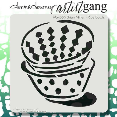 AG-009 rice bowls stencil