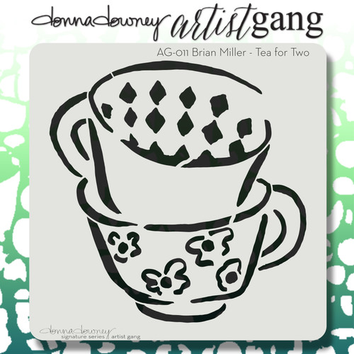 AG-011 tea for two stencil