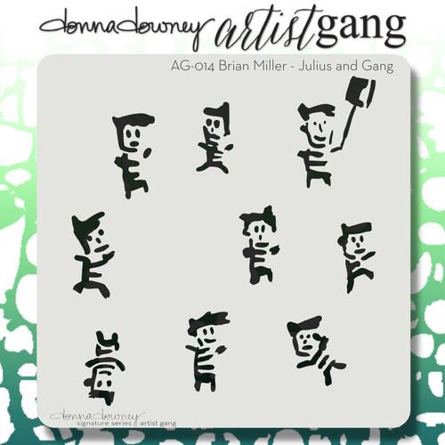 AG-014 julius & gang stencil