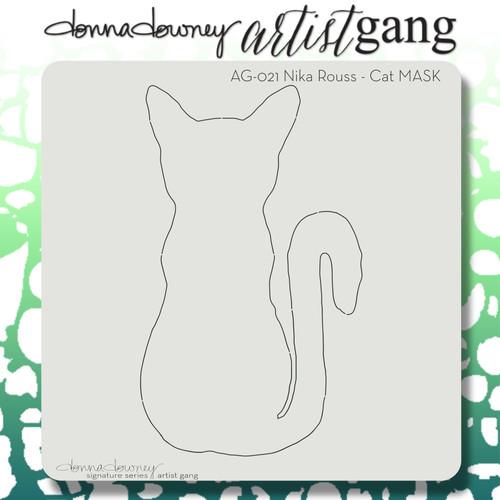 AG-021 cat stencil