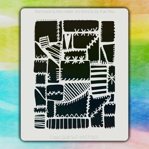 5x7 KP-025 crazy quilt stencil