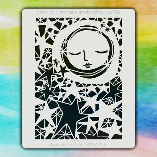 5x7 KP-028 moon beams stencil