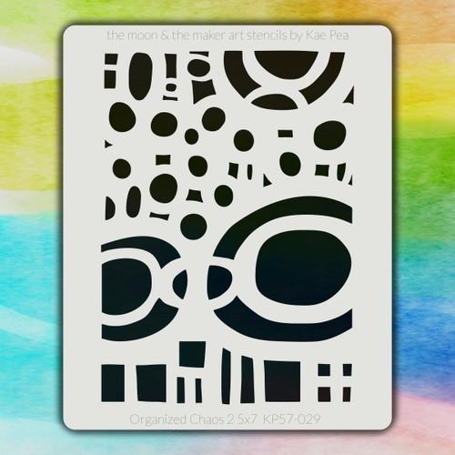 5x7 KP-029 organized chaos stencil