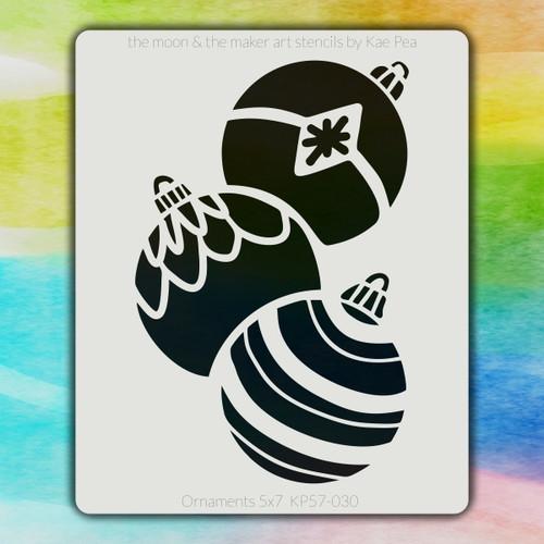 5x7 KP-030 ornaments stencil
