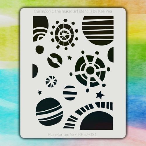 5x7 KP-031 planetarium stencil