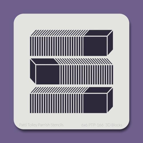 6x6 PTP-166 3D blocks stencil