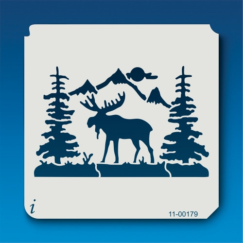 11-00179 North Country Scene Stencil