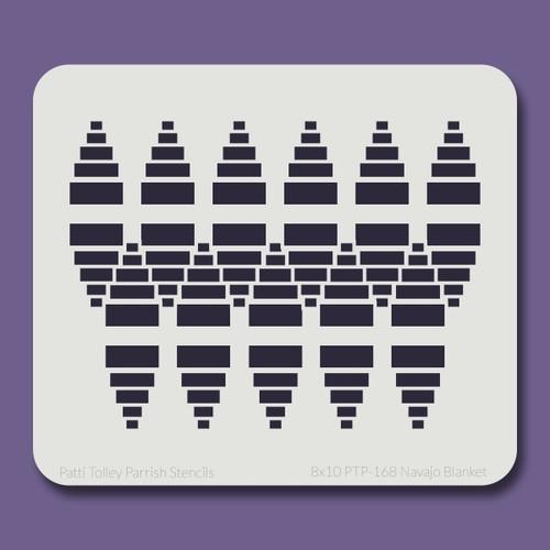 8x10 PTP-168 navajo blanket stencil