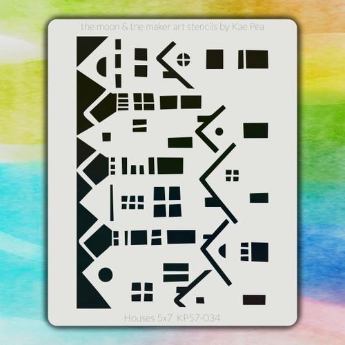 5x7 KP-034 houses stencil