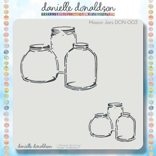 DON-003 mason jars stencil