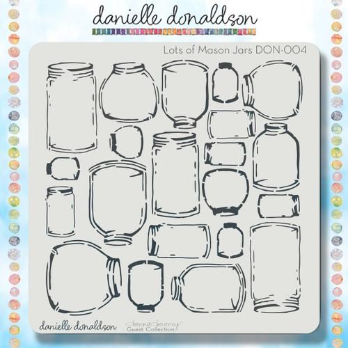 DON-004 lots of mason jars stencil