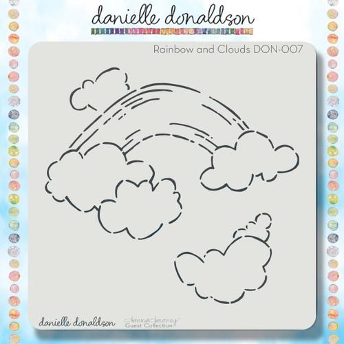 DON-007 rainbow & clouds stencil