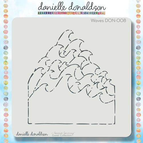 DON-008 waves stencil