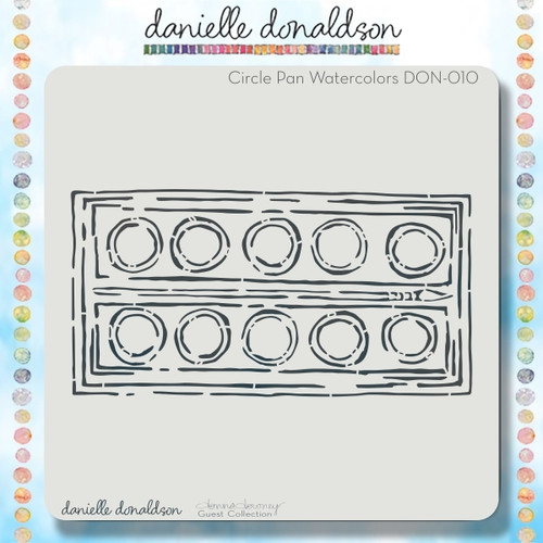 DON-010 circle pan watercolors stencil