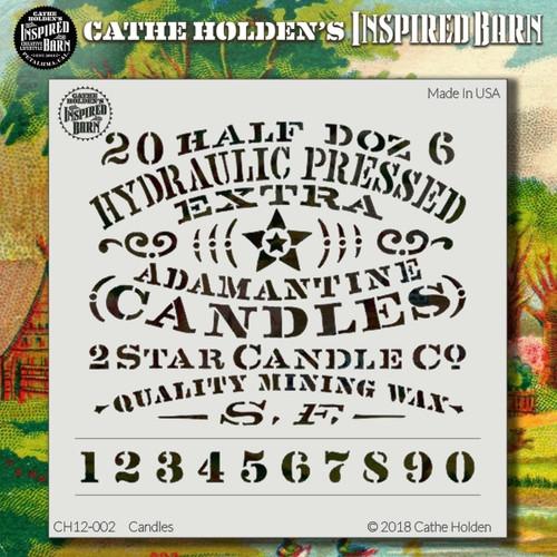CH-002 candles stencil