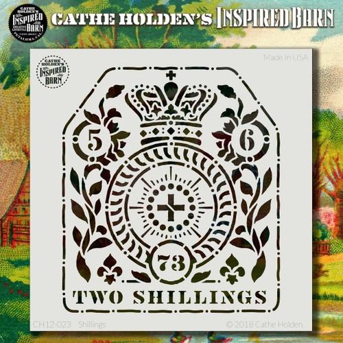 CH-023 shillings stencil