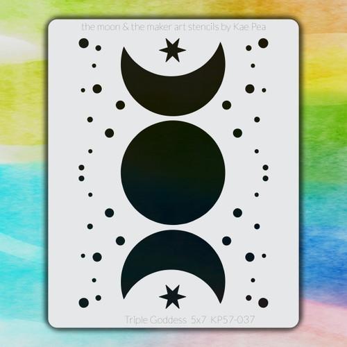 5x7 KP-037 triple goddess stencil