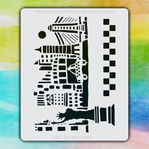 5x7 KP-040 NYC stencil