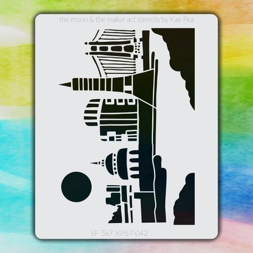 5x7 KP-042 San Francisco stencil