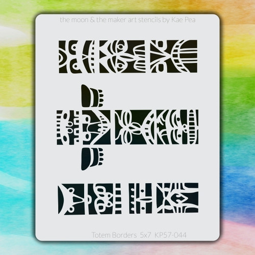 5x7 KP-044 totem borders stencil