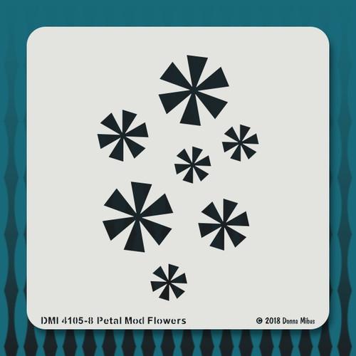 4105 6 Petal Mod Flowers stencil