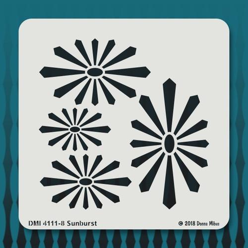 4111 Sun Burst stencil