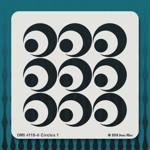 4115 Circles 1 stencil