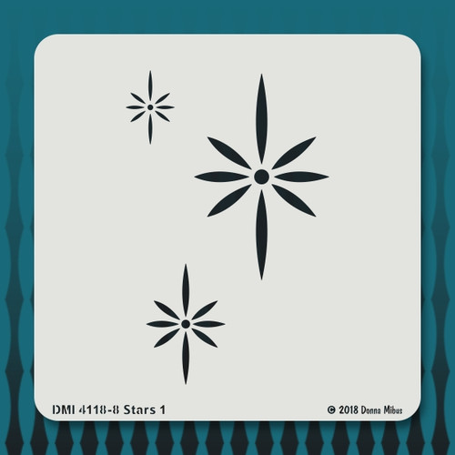 4118 Stars 1 stencil