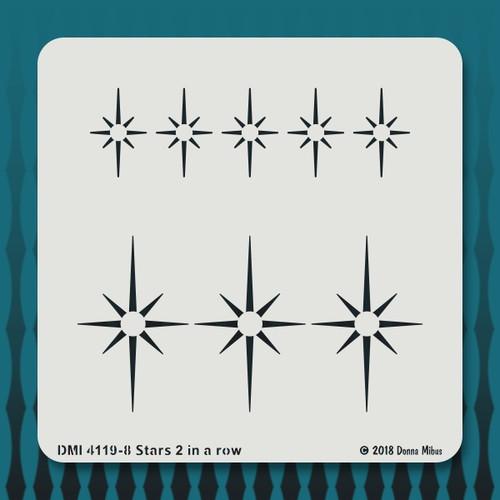4119  Stars 2 in a row stencil