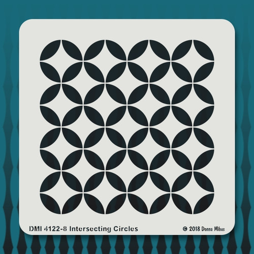 4122 Intersecting Circles stencil