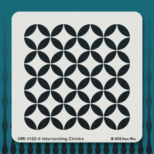 4122 Intersecting Circles stencil