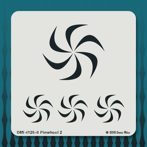 4126 Pinwheel 2 stencil
