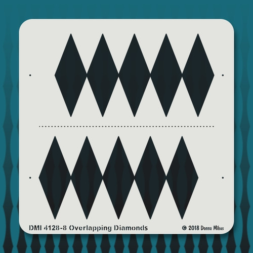 4128 Overlapping Diamonds stencil