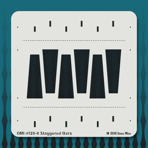 4129 Staggered Bars stencil