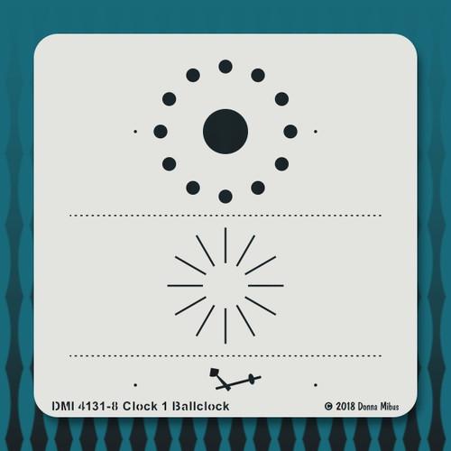 4131 Clock 1 Ballclock stencil 1