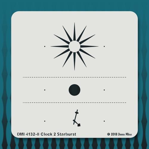 4132 Clock 2 Starburst stencil