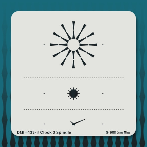 4133 Clock 3 Spindle stencil