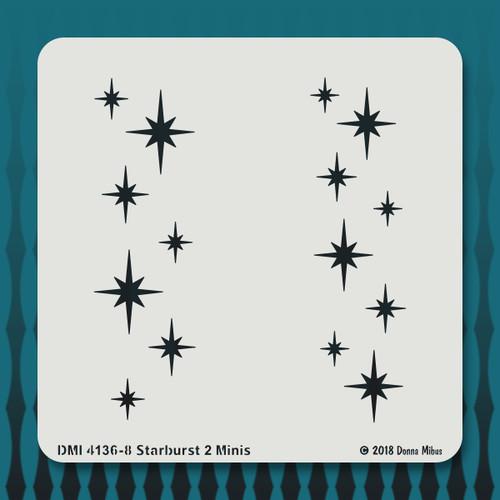 4136-8 Starburst 2 Minis stencil