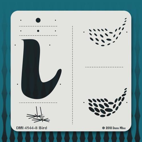 4144 Bird stencil