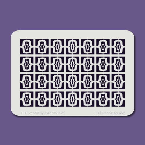 JS-003 tribal squares stencil