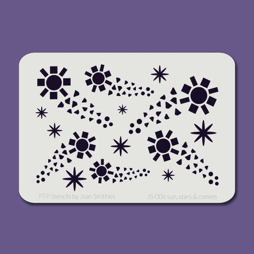JS-006 sun, stars & comets stencil