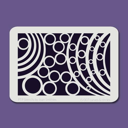 JS-007 curves & circles stencil