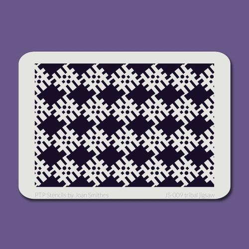 JS-009 tribal jigsaw stencil