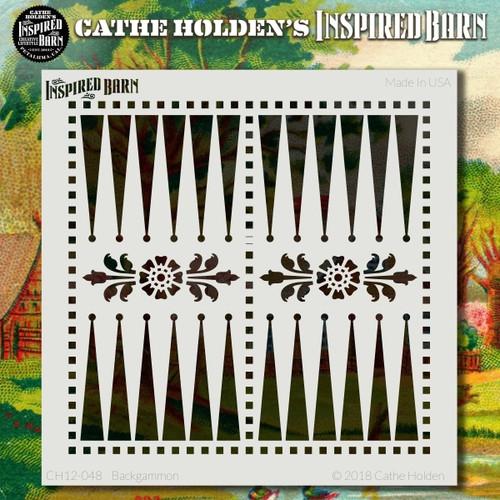 CH-048 backgammon stencil