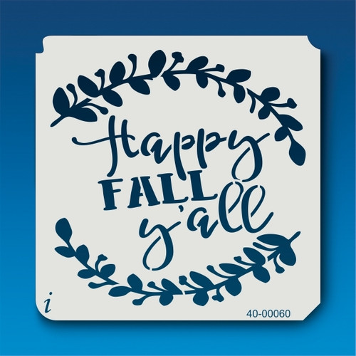 40-00060 happy fall y'all stencil #2