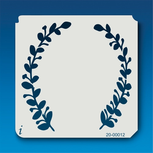 20-00012 half laurel wreath stencil
